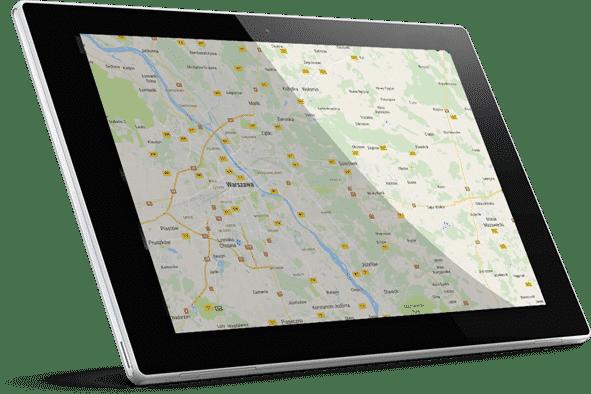Mapa instalacji fotowoltaicznych